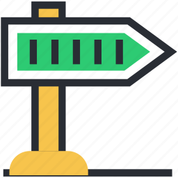 direction post, direction sign, finger post, guidepost, signpost icon