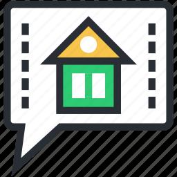 chat balloon, chat bubble, property talk, speech balloon, speech bubble icon