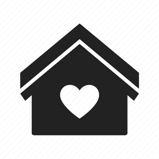 apartment, building, favorite, favourite, heart, home, house, interface, internet, like, love, real estate icon
