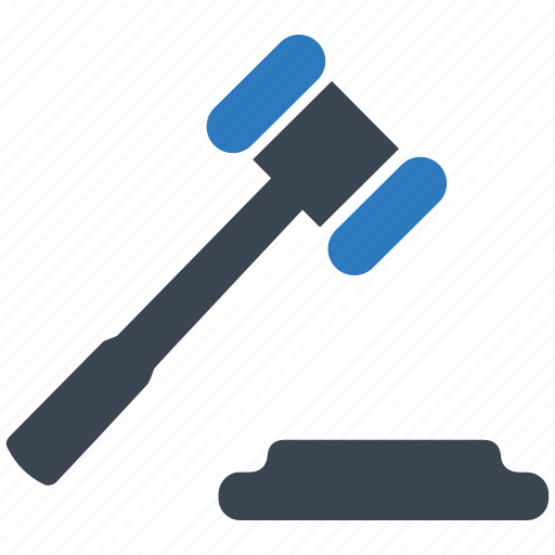 acquisition, auction, gavel, hammer, justice, law, tool icon