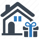 box, building, delivery, fence, home, house, moving, package, packaging, product, real estate, service icon