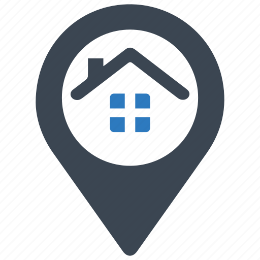 gps, home, house, location, marker, navigation, real estate icon