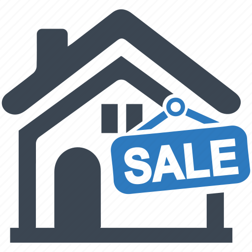 building, buy, house, property, real estate, sell home, sign icon