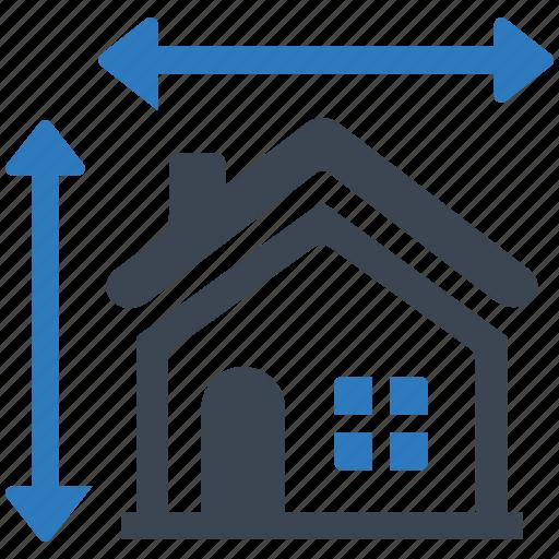 architect, architecture, building, construction, house plan, measurement, real estate icon