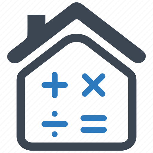 business, calculator, finance, home, loan, mortgage, real estate icon
