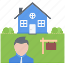 estate, house, nameplate, real, realtor, sale icon