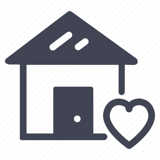 estate, favourite, heart, home, house, real icon