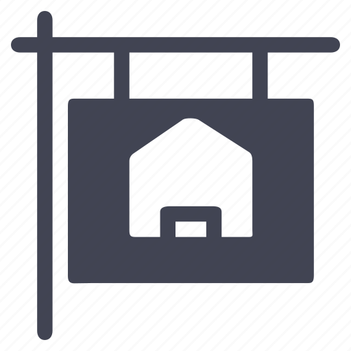 estate, for, home, house, real, sale, sign icon