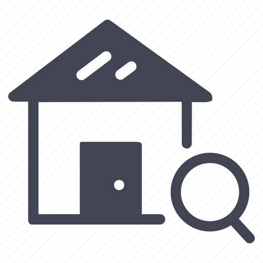 estate, find, home, house, magnifier, real, search icon