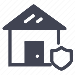 estate, home, house, real, safety, security, shield icon