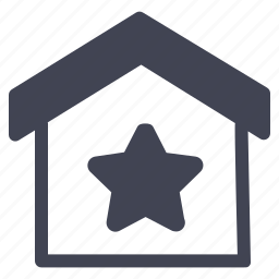 bookmark, estate, favourite, home, house, real, starred icon
