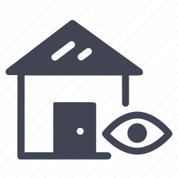 estate, eye, home, house, real, view, vision icon