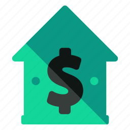 bank, dollar, estate, finance, house, money, real icon