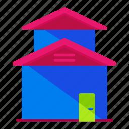 building, estate, real icon