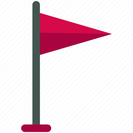estate, flag, flagged, golf, real icon