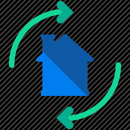estate, real, refresh icon