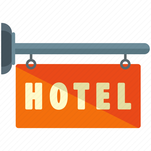 hotel, sign icon