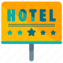 hotel, sign, rating, star