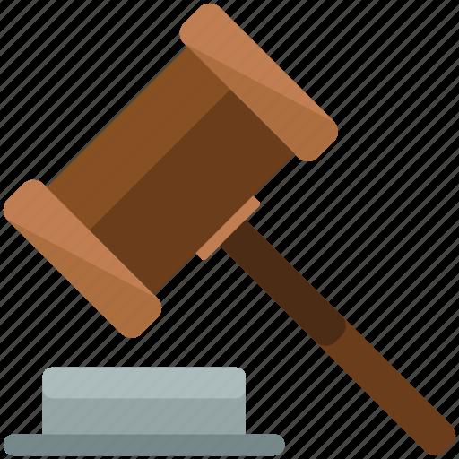 gavel, law, legal icon