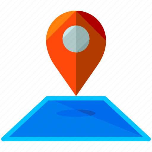 estate, location, map, navigation, pointer, real icon