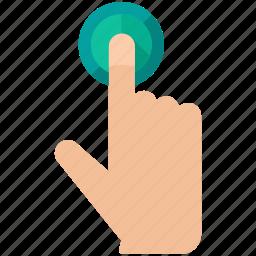 estate, gesture, hand, press, real icon