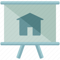 chart, estate, house, presentation, real, sign icon