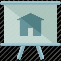 estate, presentation, real icon