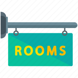 rooms, sign icon