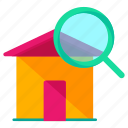 estate, find, real, search icon