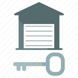 lock, storage, unit icon