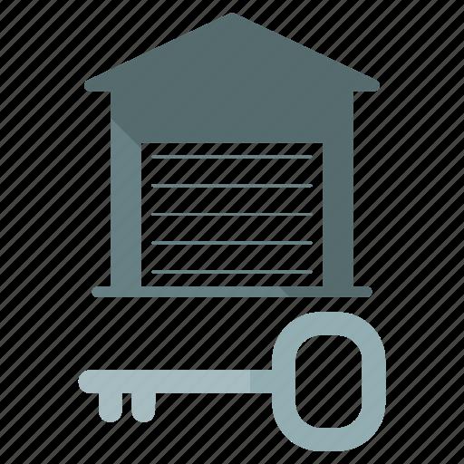 estate, key, real, security, storage, unit icon