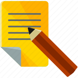 document, estate, paper, pencil, real, sign, write icon