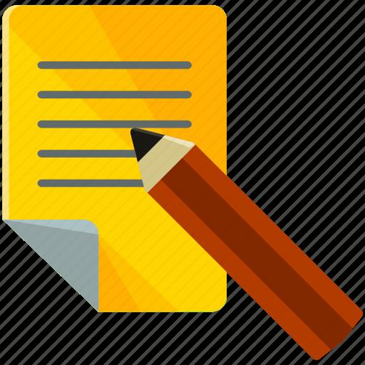 document, write icon