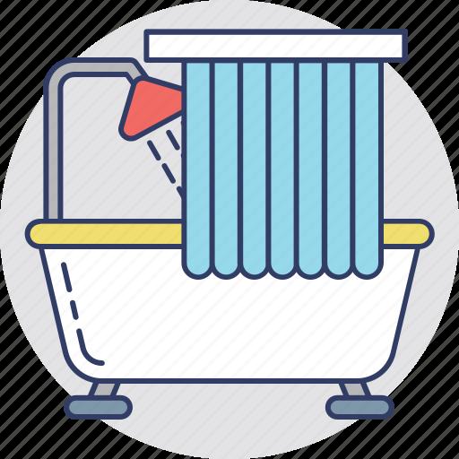 bath, bathroom, bathtub, jacuzzi tub, shower tub icon