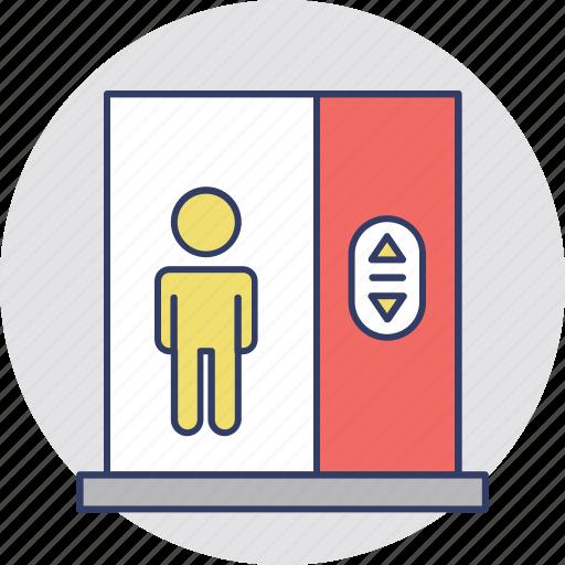 elevator, elevator lift, lift, passenger elevator, vertical transportation icon