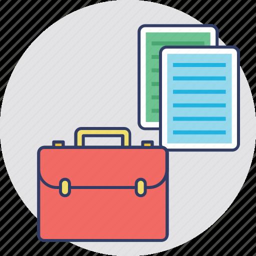 briefcase, business bag, documents, documents bag, portfolio icon