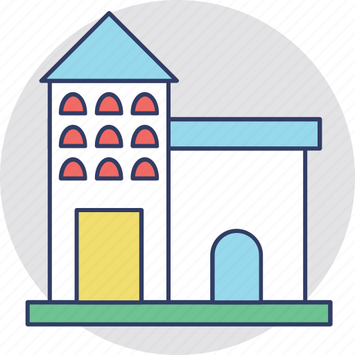 dwelling house, house real estate, lodge, mansion, palace icon