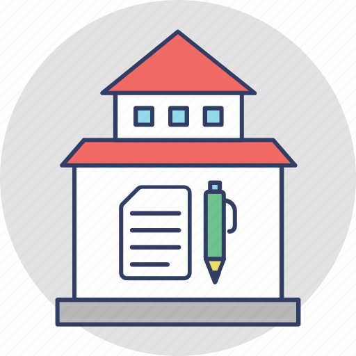home loan application, mortgage papers, property agreement, property ownership, property papers icon