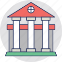 bank, columns building, court, courthouse, institute icon