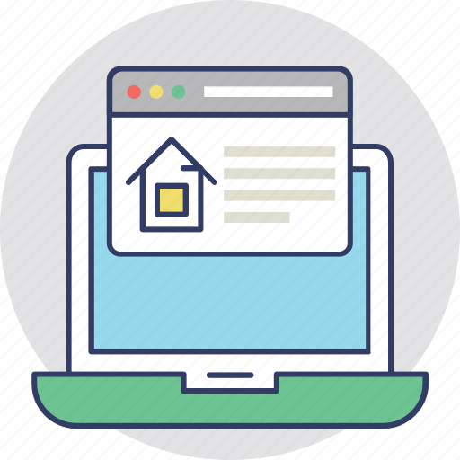 Online mortgage, online property purchasing, online property selection, online real estate, real estate website icon - Download on Iconfinder