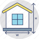 architectural project, construction plan, house plan, house size, property measurement icon