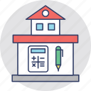 calculation, house value, house worth, property analyzing, property estimation icon