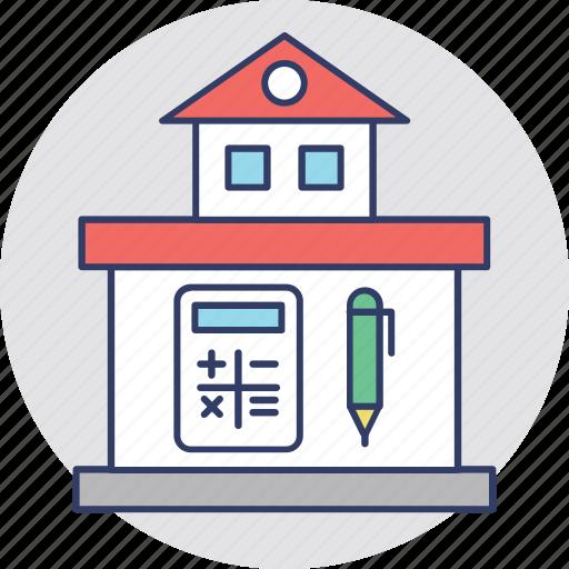 calculation, house value, house worth, property analyzing, property estimation icon