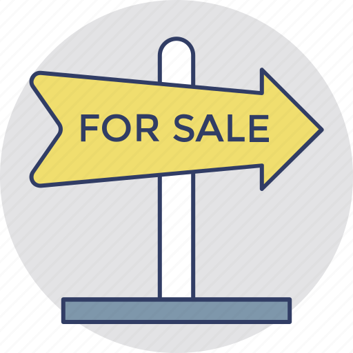 commercial estate sign, for sale, sale advertisement, sale signage, sale signboard icon