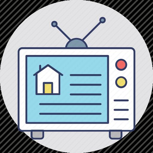 Property ads, property marketing, real estate advertisement, real estate promotion, tv ads icon - Download on Iconfinder