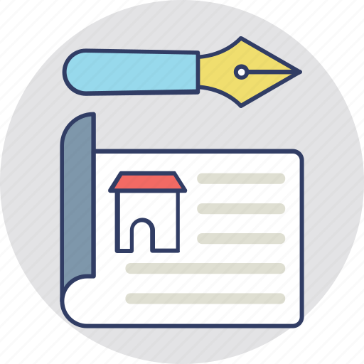 home loan application, mortgage papers, property agreement, property papers, real estate contract icon