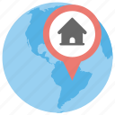 geolocation, global location, global navigation, gps, world location icon