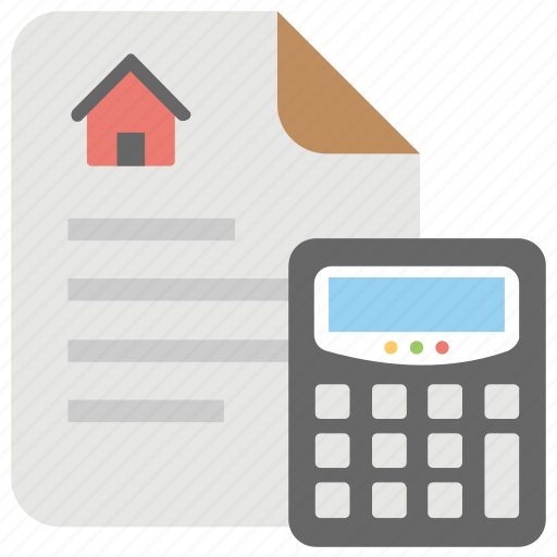 accounting records, bookkeeping, budget, mortgage calculation, property papers icon