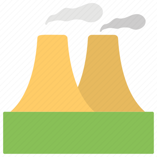 brick tower, factory, industry, industry work, power plant icon