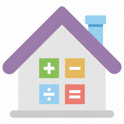 construction budget, house value, house worth, property estimation, property evaluation icon